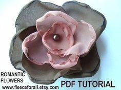 FF145 Romantic Fabric Flowers PDF tutorial  by FleeceForAll, $6.00