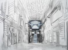 """#Pintura  """"Templo Pagano""""  80 x 110 cm  Acrílico sobre canvas  Ana Abregú 2010"""