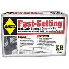 Easy to use and fast drying, great for fence post holes (just drop it in the hole, add water, poke it a little to make sure it's mixed, and allow it to set) - affiliate Fast Setting Concrete, Concrete Projects, Construction Materials, Get The Job, 50th, At Least, Learning, Poster, Lowes