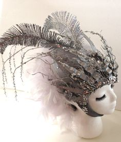 Goddess of AIR Gemini Headpiece silver and door EZorangeDesign