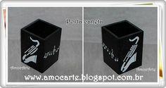 Peça organizadora - Porta lápis, caneta, pente, pincel... - mdf madeira http://www.amocarte.blogspot.com.br/
