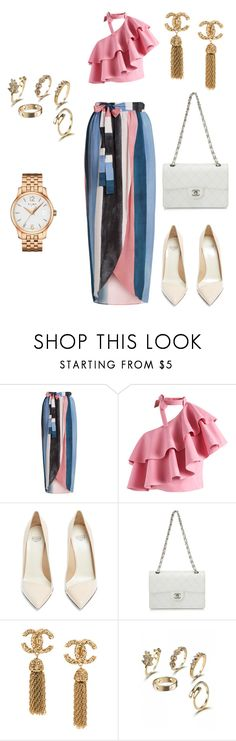 """😍Sunday Brunch"" by magicstylez ❤ liked on Polyvore featuring Mara Hoffman, Chicwish, Francesco Russo, Chanel and Tissot"