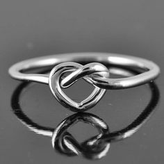 love knot ring heart knot ring infinity ring heart by JubileJewel, $25.00