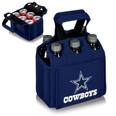 When carrying a 6-Pack, the Dallas Cowboys Six Pack Cooler is the perfect way to get them to your final destination. The Dallas Cowboys Six Pack is a beverage carrier that fits most water, beer, and s