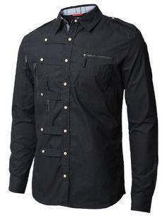 DOUBLJU Mens Casual Long Sleeve Zipper point & Sleeve coloration Shirt(AJ10)-BLACK-Asian-M Doublju,http://www.amazon.com/dp/B007QYZT4U/ref=cm_sw_r_pi_dp_pmkqrb04TQR8GQ8N