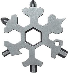 18 In 1 Incredible Tool – Easy N Genius - FEX 18-in-1 Stainless Steel Snowflakes Multi-Tool - 18-in-1 Stainless Multi-tool Father's Day Gift Christmas Present (Standard, Stainless - Silver) - - Amazon.com Keychain Multitool, Keychain Tools, Snowflake Shape, Snowflake Designs, Glass Breaker, Fire Starters, Diy Supplies