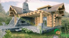 Proiect Doralnic 7 Case din busteni - Cabane din lemn Wooden Cabins, Log Cabins, Off Grid Cabin, House In The Woods, Woodworking Projects, Bali, Pergola, Outdoor Structures, House Styles