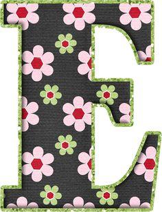 .Alfabeto de florecitas rosas ...De  Eduarda Cavalcanti .....E