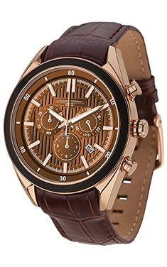 Jorg Gray JG6900-21 - Reloj para hombres, correa de cuero color marrón