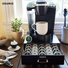 Accessorize your Keurig brewer with our K-Cup Pod Storage Drawer to help organize all your favorite K-Cup pods, including Green Mountain Coffee.