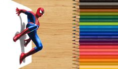 3-D Colored Pencil Drawing: The Amazing Spider-Man by JasminaSusak on DeviantArt
