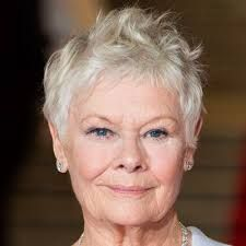 Judi Dench Dame Judi Dench has been mastering this cropped chop for decades. Her pixie is great for gray textured hair. Oval Face Hairstyles, Round Face Haircuts, Cool Haircuts, Hairstyles Haircuts, Trendy Hairstyles, Stylish Hairstyles, Gorgeous Hairstyles, Judy Dench Hair, Judi Dench