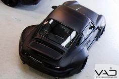 Porsche 993.  Big n fat in Matt black #porsche #rwb
