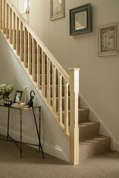 Traditional Stop Chamfered Style Pine Staircase