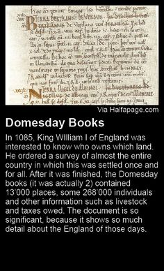 Domesday Books - William I of England Domesday Book, William The Conqueror, Bannister, Medieval Life, My Ancestors, Family Genealogy, Family History, Maps, British