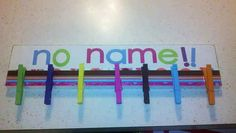 "Make a ""No Name"" board for homeless homework. 