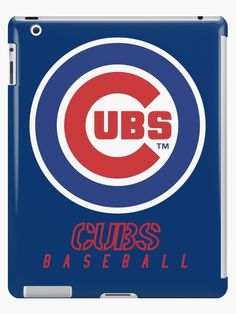 'Chicago Cubs Baseball Club ' iPad Case/Skin by James Jenskins Chicago Cubs Baseball, Baseball League, Chicago Cubs Logo, Ipad Case, Classic T Shirts, Phone Cases, Club, Stickers, Logos