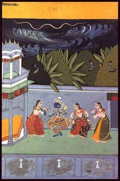 Ragamala series: Raga Meghamalhara. Rajasthan, ca. 1750, Alwar Museum, Rajasthan