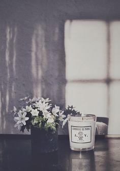Candle + Flower Arrangement.