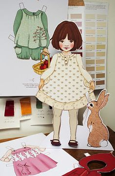 belle and boo large-sized paperdolls