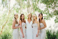 Gorgeous neutral strapless bridesmaid dresses for perfect backyard wedding. Neutral Bridesmaid Dresses, Wedding Dresses, Real Weddings, Backyard, Gray, Sweet, Style, Fashion, Bride Dresses