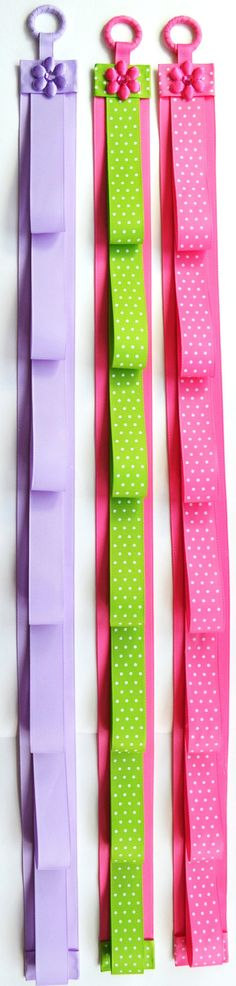 Boutique Handmade Ribbon Hanging Headband by FunnyGirlDesigns