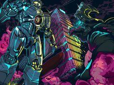 Blurppy.com Poster Posse Project: Pacific Rim by Sam Ho, via Behance