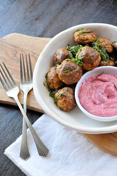 Roasted Turkey Meatballs with Cranberry-Mustard Sauce   the pig & quill
