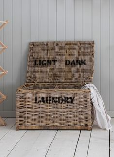 Make sorting the laundry a doddle with the beautiful Dark and Lights Laundry Chest.Crafted in Rattan, this large laundry basket boasts a superb natural finish, adding a touch of rustic charm to you home.Designed with two separate Laundry Room Shelves, Laundry Storage, Laundry Room Organization, Laundry Room Design, Closet Storage, Storage Shelves, Laundry Cabinets, Laundry Decor, Laundry Closet