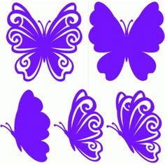 Silhouette Design Store - View Design #75299: butterflies set