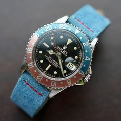 """vintage """"Pepsi"""" Rolex GMT (ver más relojes aquí)"""