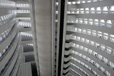 Interior de la torre del agua.