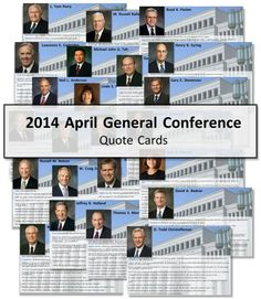 2014 April General Conference Quote Cards