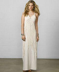 $74.99 oon sale Denim & Supply Ralph Lauren Sleeveless Macramé Maxi Dress bohochic could shorten even and still be cool
