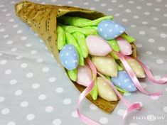 Tulipany z materiału - idealne na Dzień Babci - zobacz jak zrobić na twojediy.pl