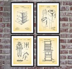 Beekeeping Poster - 4 PACK, Beekeeping Blueprint, Beekeeping Patent, Beekeeping Prints, Beekeeping Art, Beekeeping Decor by STANLEYprintHOUSE  10.00 USD  We use only top quality archival inks and heavyweight matte fine art papers and high end printers to produce a stunning quality print that's made to last.  Any of these posters will make a great affordable gift, or tie any room together.  Please choose between different sizes and co ..  https://www.etsy.com/ca/listing/456510996/be..