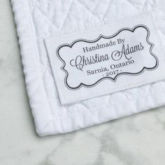 Personalized cotton fabric label customized with your name or shop. Showcase your handmade work with a professional custom label sewn or ironed onto your item. Sewing Labels, Fabric Labels, Quilt Labels, Personalized Labels, Custom Labels, Love Label, Label Tag, Fabric Yarn, Cotton Fabric