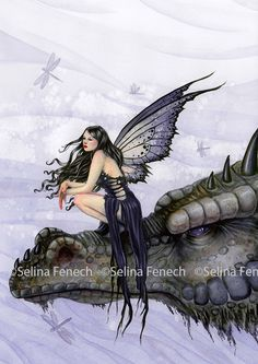 """Dragon Skies"" by Selina Fenech available at TouCanvas.com! Fantasy canvas art - fairies, dragons, mermaids, & more!"