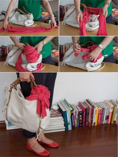 Cardigan trick... great way to keep from having to carry the thing around when you get warm!