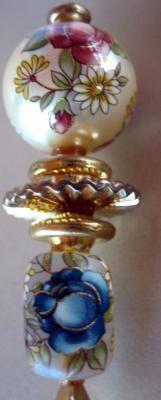 Circa:1890's Multi color Victorian hat pin.