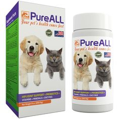 Simien Pets PureAll Probiotics Supplement Hip and Joint Support, Digestive Enzymes, Vitamins, 9 oz. 100 servings, for Dogs and Cats * You can get additional details at the image link. (This is an affiliate link and I receive a commission for the sales)