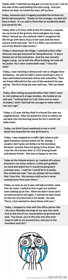 Random acts of kindness. Take time to make someones day. These made me all want to cry