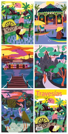 Cambodia / Travesias Magazine on Illustration Served