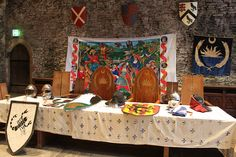 Drachenwald Heraldic Display  Great Hall, Caerphilly Castle by nmfadams, via Flickr