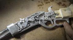 Rubber band gun CNC'd from Al.