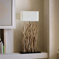 Driftwood floor lamp..