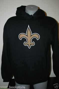 New NFL Football Reebok NO New Orleans Saints Pullover Hoodie Hooded Jacket d5fde34df2bf