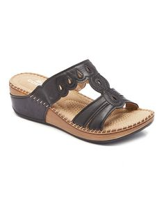 Love this Black Scalloped Sandal on #zulily! #zulilyfinds