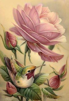 Rose and bird                                                       …