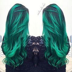 Mermaid green hair color❤️